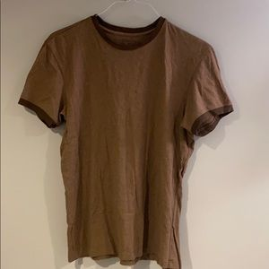 Brown banana republic fitted crew neck T-shirt
